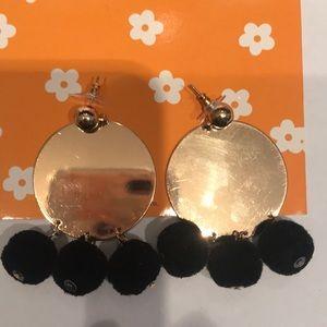 🆕Madewell Fun Black Pom Pom Earrings